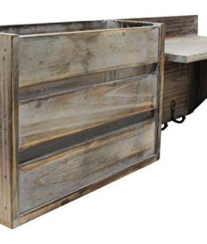 Vintage Torched Wood Rustic Wall