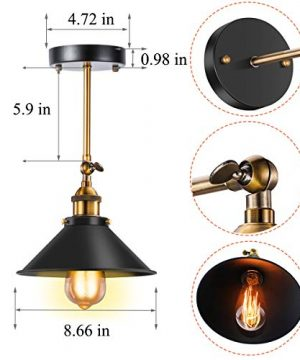 Vintage Wall Sconce Licperron Black Antique 240 Degree Adjustable Industrial Wall Light For Restaurants Galleries Aisle Kitchen Room Doorway 3 Pack 0 0 300x360
