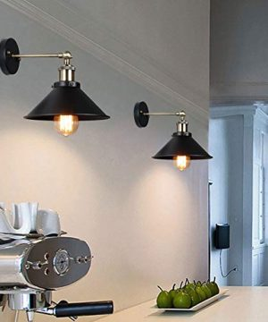 Vintage Wall Sconce Licperron Black Antique 240 Degree Adjustable Industrial Wall Light For Restaurants Galleries Aisle Kitchen Room Doorway 3 Pack 0 3 300x360