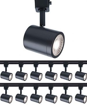 WAC Lighting H 8010 30 BK 12 Charge Line Voltage Head 3000K In Black For H Track Pack Of 12 LED Light Fixture 12 Piece 0 300x360