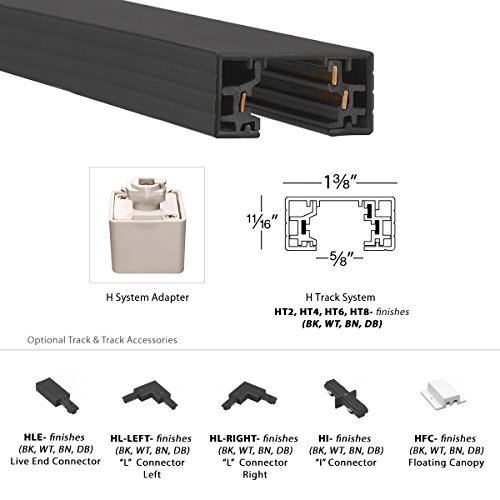 WAC Lighting H LED208 30 AB Contemporary Summit ACLED 15W Beamshift Line Voltage Traditional H Track Head 0 4