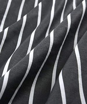 Wake In Cloud Gray Striped Comforter Set 100 Cotton Fabric With Soft Microfiber Fill Bedding White Vertical Stripes Pattern Printed On Dark Grey 3pcs Twin Size 0 2 300x360