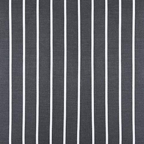 Wake In Cloud Gray Striped Comforter Set 100 Cotton Fabric With Soft Microfiber Fill Bedding White Vertical Stripes Pattern Printed On Dark Grey 3pcs Twin Size 0 3