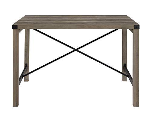 Walker Edison Furniture Company 48 Industrial Farmhouse Dining Table Grey Wash 0 0