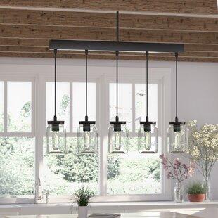 Wednesbury+5-Light+Kitchen+Island+Jar+Pendant