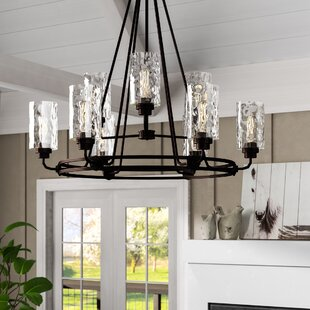 Westhope+9-Light+Shaded+Tiered+Chandelier