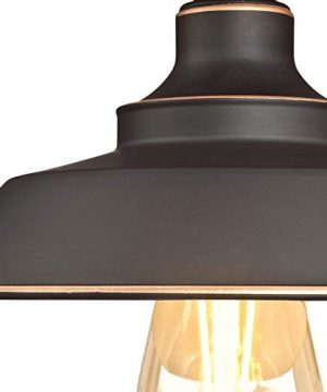 Westinghouse Lighting 6370100 Iron Hill 9 Inch One Light Indoor Semi Flush Mount Ceiling Light Oil Rubbed Bronze Finish With Highlights 0 1 300x360