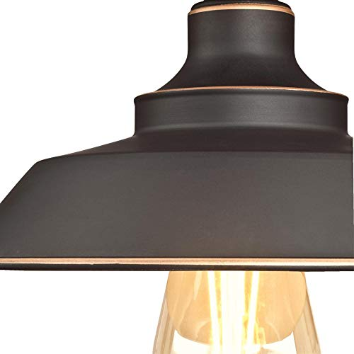 Westinghouse Lighting 6370100 Iron Hill 9 Inch One Light Indoor Semi Flush Mount Ceiling Light Oil Rubbed Bronze Finish With Highlights 0 1