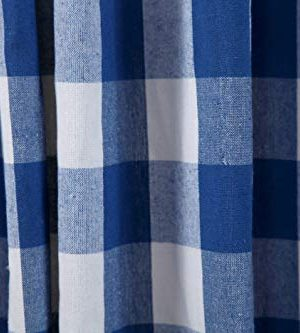 Window Panels Curtain In Gingham Check Cotton Fabric 50x72 Navy White Set Of 2Farmhouse Curtain Tab Top Curtains Room Darkening Drapes Curtains For Bedroom Curtains For Living Room Curtains 0 3 300x333
