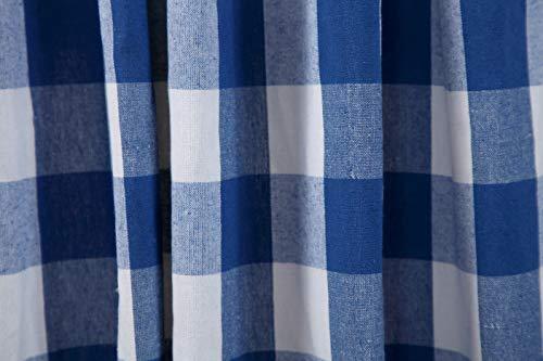 Window Panels Curtain In Gingham Check Cotton Fabric 50x72 Navy White Set Of 2Farmhouse Curtain Tab Top Curtains Room Darkening Drapes Curtains For Bedroom Curtains For Living Room Curtains 0 3