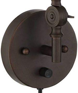 Wray Modern Industrial Up Down Swing Arm Wall Lights Set Of 2 Lamps Dark Bronze Sconce For Bedroom Reading 360 Lighting 0 3 300x360