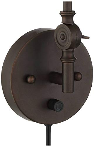 Wray Modern Industrial Up Down Swing Arm Wall Lights Set Of 2 Lamps Dark Bronze Sconce For Bedroom Reading 360 Lighting 0 3