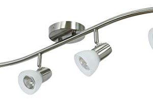 XiNBEi Lighting Track Lighting 4 Light Track Light Modern S Shaped Track Light Bar Included GU10 Bulb Brushed Nickel Finish XB TR1223 4 0 4 300x219