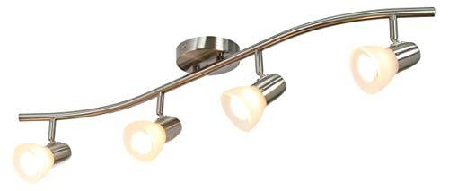 XiNBEi Lighting Track Lighting 4 Light Track Light Modern S Shaped Track Light Bar Included GU10 Bulb Brushed Nickel Finish XB TR1223 4 0 5