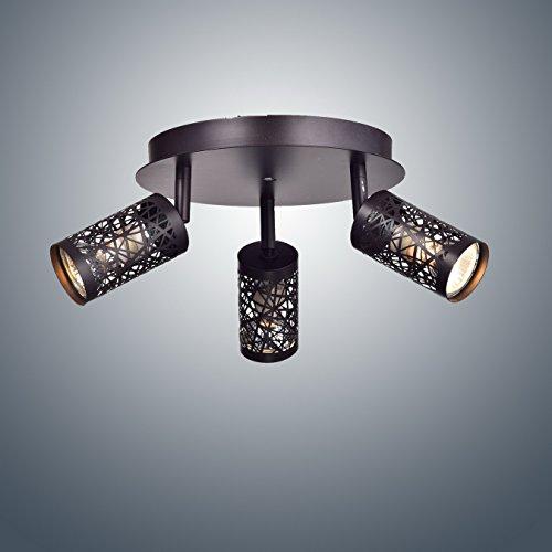 YOBO Lighting Vintage 3 Light GU10 Ceiling Spot Track Light Oil Rubbed Bronze 0