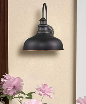 Zeyu Farmhouse Barn Light Fixture Gooseneck Wall Sconce 2 Pack In Rubbed Oil Bronze Finish 02A390 2 ROB 0 0 300x360