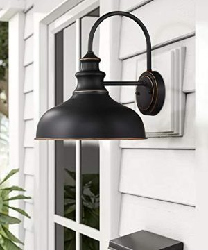 Zeyu Farmhouse Barn Light Fixture Gooseneck Wall Sconce 2 Pack In Rubbed Oil Bronze Finish 02A390 2 ROB 0 1 300x360
