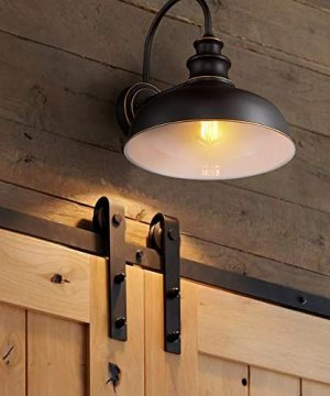 Zeyu Farmhouse Barn Light Fixture Gooseneck Wall Sconce 2 Pack In Rubbed Oil Bronze Finish 02A390 2 ROB 0 2 300x360