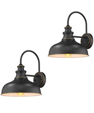 Zeyu Farmhouse Barn Light Fixture Gooseneck Wall Sconce 2 Pack In Rubbed Oil Bronze Finish 02A390 2 ROB 0 300x360
