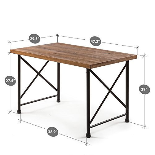 Zinus Alicia Industrial Style Dining Table 0 0