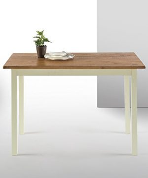 Zinus Becky Farmhouse Wood Dining Table Table Only 0 300x360