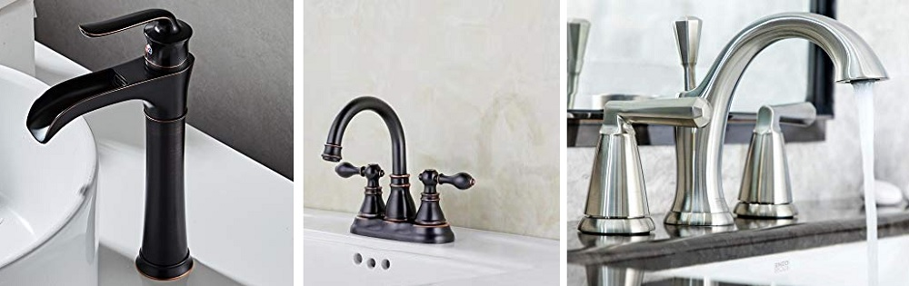 farmhouse bathroom sink faucets