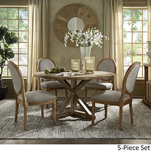 INSPIRE Q Artisan Deana Round Dining Set With Round Back Chairs By Grey 6 7 Piece Sets 0 0