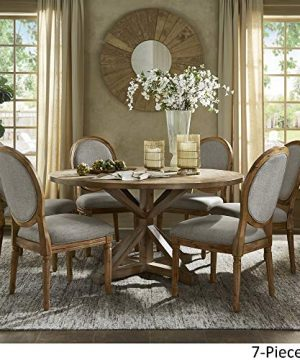 INSPIRE Q Artisan Deana Round Dining Set With Round Back Chairs By Grey 6 7 Piece Sets 0 1 300x360