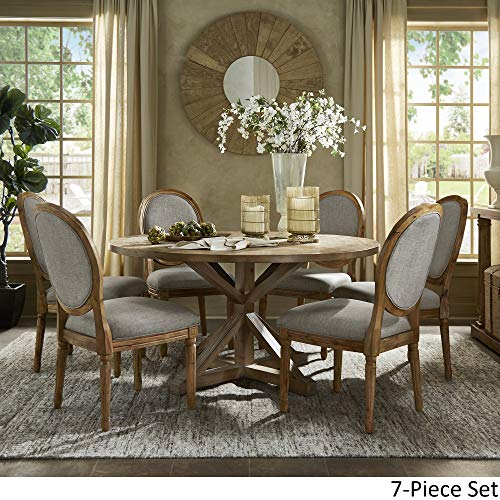 INSPIRE Q Artisan Deana Round Dining Set With Round Back Chairs By Grey 6 7 Piece Sets 0 1