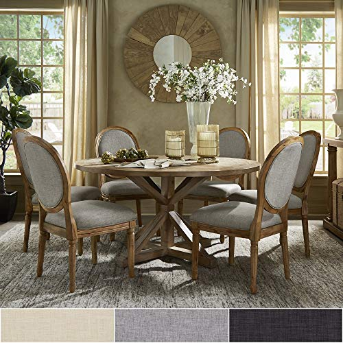 INSPIRE Q Artisan Deana Round Dining Set With Round Back Chairs By Grey 6 7 Piece Sets 0