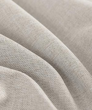 Jinchan Curtains For Bedroom Linen Textured Room Darkening Drapes 84 Inch Long Living Room Curtain In Greyish Beige One Panel 0 4 300x360