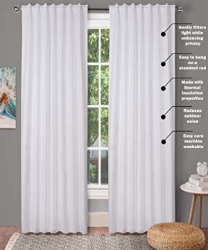 Window Panels Set Of 2Cotton Curtains InTextured Fabric 50x96 WhiteFarm House CurtainTab Top CurtainsRoom Darkening DrapesCurtains For BedroomCurtains For Living RoomCurtains Set Of 2 0 0 300x360