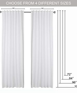 Window Panels Set Of 2Cotton Curtains InTextured Fabric 50x96 WhiteFarm House CurtainTab Top CurtainsRoom Darkening DrapesCurtains For BedroomCurtains For Living RoomCurtains Set Of 2 0 5 300x360