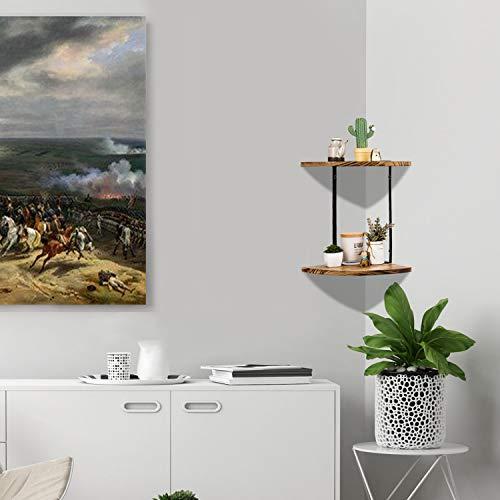 2 Tier Floating Shelves Wall Mounted Corner Shelf Wall Mount Shelves Perfect For Pantry Living Room Bedroom KitchenCarbonized Black 0 3