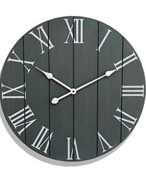 24 Large Farmhouse Wall Clock Rustic Farmhouse Clock Wood Farmhouse Clock Rustic Vintage Decoration 24 Wall Clock Grey Big Rustic Clock Farmhouse Wall Clock 24 Large Wall Clock 24 Inch 0 300x360