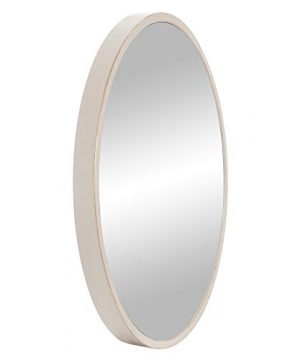 30 Distressed White Metal Framed Round Wall Mirror 0 2 300x360