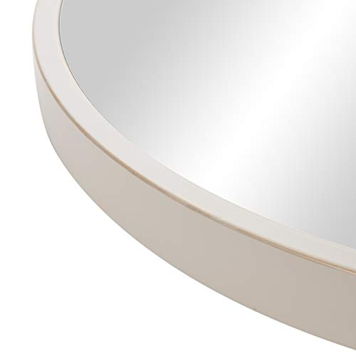 30 Distressed White Metal Framed Round Wall Mirror 0 3