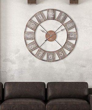 36 Galvanized Metal And Wood Windmill Clock 0 0 300x360