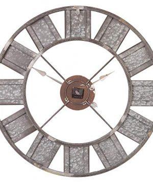 36 Galvanized Metal And Wood Windmill Clock 0 1 300x360