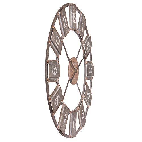 36 Galvanized Metal And Wood Windmill Clock 0 2