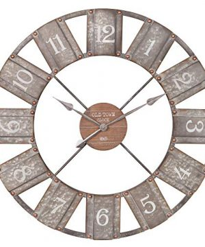 36 Galvanized Metal And Wood Windmill Clock 0 300x360