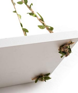 AHDECOR LeafRope Hanging Floating Shelves Wall Swing Storage Shelf For Home Dcor White 3 Pack 0 5 300x360