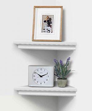 AHDECOR White Corner Wall Shelves Wall Mounted Floating Corner Shelf For Home Dcor 2 Pack 0 0 300x360