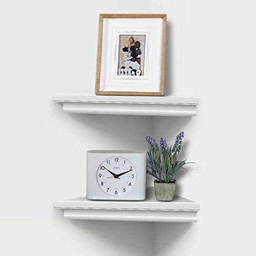 AHDECOR White Corner Wall Shelves Wall Mounted Floating Corner Shelf For Home Dcor 2 Pack 0 0