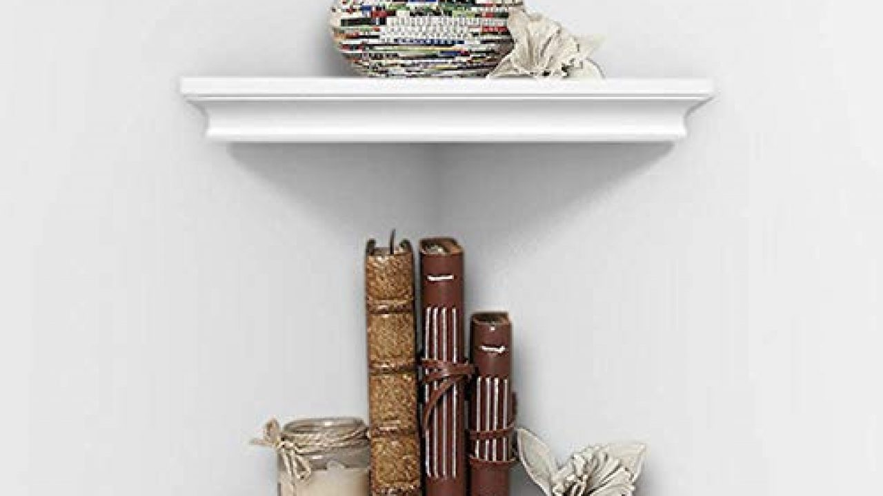 ahdecor white corner wall shelves wall mounted floating corner shelf for home decor 2 pack