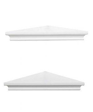 AHDECOR White Corner Wall Shelves Wall Mounted Floating Corner Shelf For Home Dcor 2 Pack 0 2 300x360
