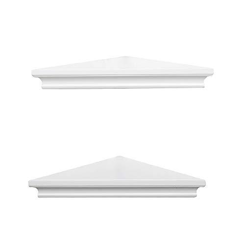 AHDECOR White Corner Wall Shelves Wall Mounted Floating Corner Shelf For Home Dcor 2 Pack 0 2