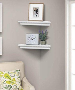AHDECOR White Corner Wall Shelves Wall Mounted Floating Corner Shelf For Home Dcor 2 Pack 0 3 300x360