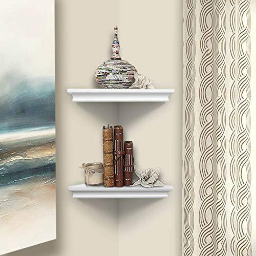 AHDECOR White Corner Wall Shelves Wall Mounted Floating Corner Shelf For Home Dcor 2 Pack 0 4