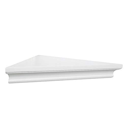 AHDECOR White Corner Wall Shelves Wall Mounted Floating Corner Shelf For Home Dcor 2 Pack 0 5